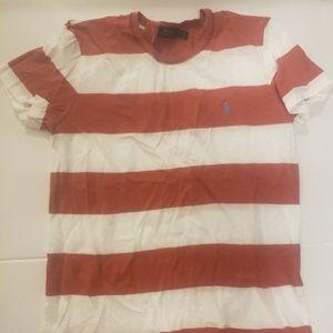 Stripped Soft Cotton Polo T-Shirt